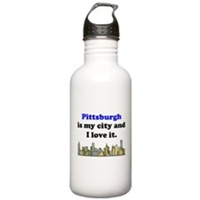 Pittsburgh Is My City And I Love It Water Bottle