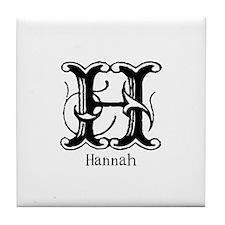 Hannah: Fancy Monogram Tile Coaster