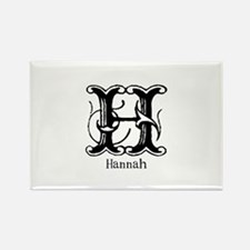 Hannah: Fancy Monogram Rectangle Magnet