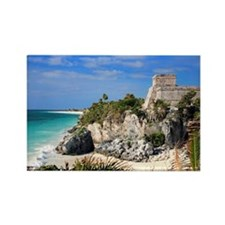 Tulum, Mayan Ruins, Mayan Riviera Rectangle Magnet