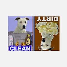 Pit Bull Terrier (White) Rectangle Magnet