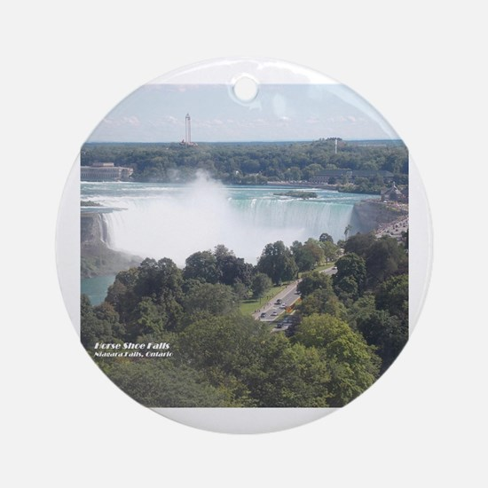 Cute Niagara falls Round Ornament