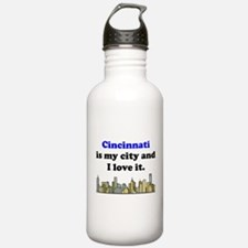 Cincinnati Is My City And I Love It Water Bottle