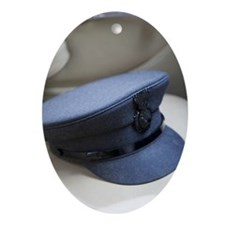 Chauffer's hat on seat Ornament (Oval)