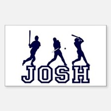 Baseball Josh Personalized Rectangle Decal