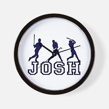 Baseball Josh Personalized Wall Clock