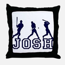 Baseball Josh Personalized Throw Pillow