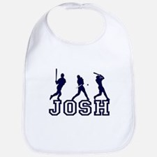 Baseball Josh Personalized Bib