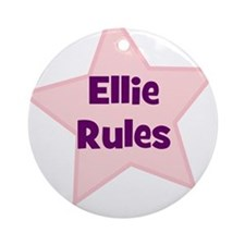 Ellie Rules Ornament (Round)