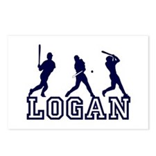 Baseball Logan Personalized Postcards (Package of