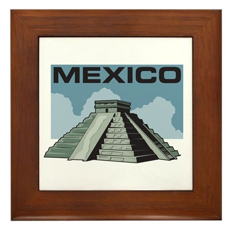 Mexico Pyramid Framed Tile