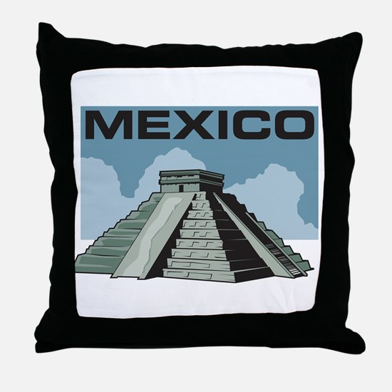 Mexico Pyramid Throw Pillow