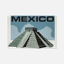Mexico Pyramid Rectangle Magnet