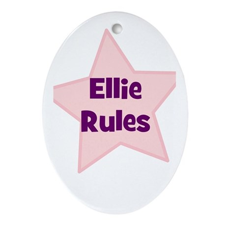 Ellie Rules Oval Ornament