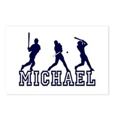 Baseball Michael Personalized Postcards (Package o