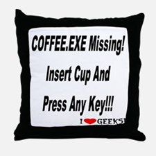 Coffee.exe Throw Pillow