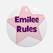 Emilee Rules Ornament (Round)