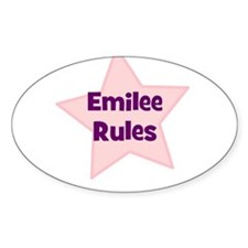 Emilee Rules Oval Decal