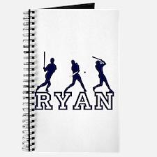 Baseball Ryan Personalized Journal