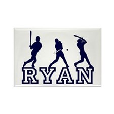 Baseball Ryan Personalized Rectangle Magnet