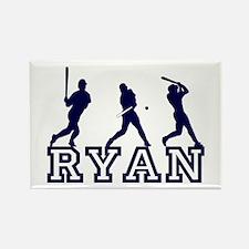Baseball Ryan Personalized Rectangle Magnet