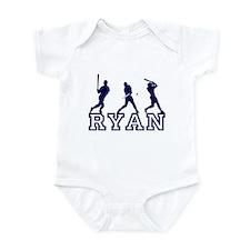 Baseball Ryan Personalized Infant Bodysuit
