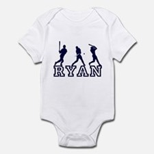 Baseball Ryan Personalized Onesie