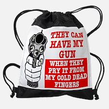 Have Gun From Dead Hands Drawstring Bag