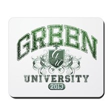 Green Last Name University Class of 2013 Mousepad