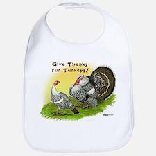 Give Thanks For Turkeys! Bib