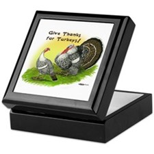 Give Thanks For Turkeys! Keepsake Box