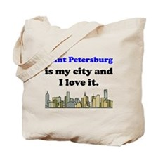 Saint Petersburg Is My City And I Love It Tote Bag