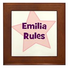 Emilia Rules Framed Tile