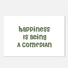 Happiness Is Being A COMEDIAN Postcards (Package o