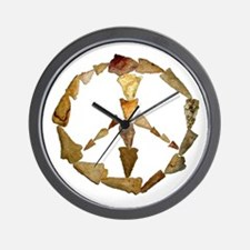 Points Peace Wall Clock