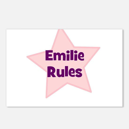 Emilie Rules Postcards (Package of 8)