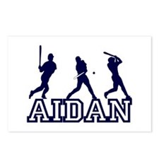 Baseball Aidan Personalized Postcards (Package of