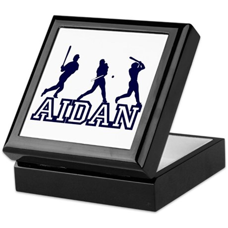 Baseball Aidan Personalized Keepsake Box