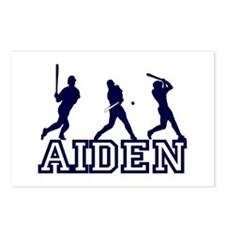 Baseball Aiden Personalized Postcards (Package of