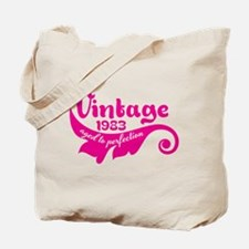 Vintage 1983 aged to perfection 30th birthday Tote