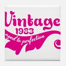 Vintage 1983 aged to perfection 30th birthday Tile