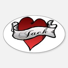 Jack Tattoo Heart Oval Decal