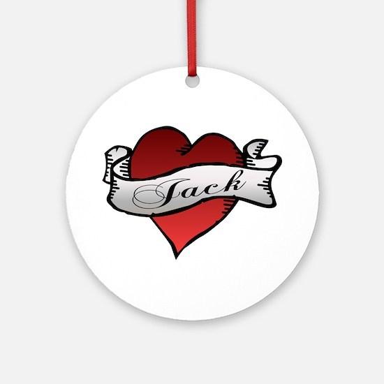 Jack Tattoo Heart Ornament (Round)