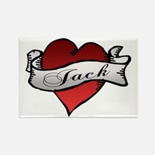 Jack Tattoo Heart Rectangle Magnet
