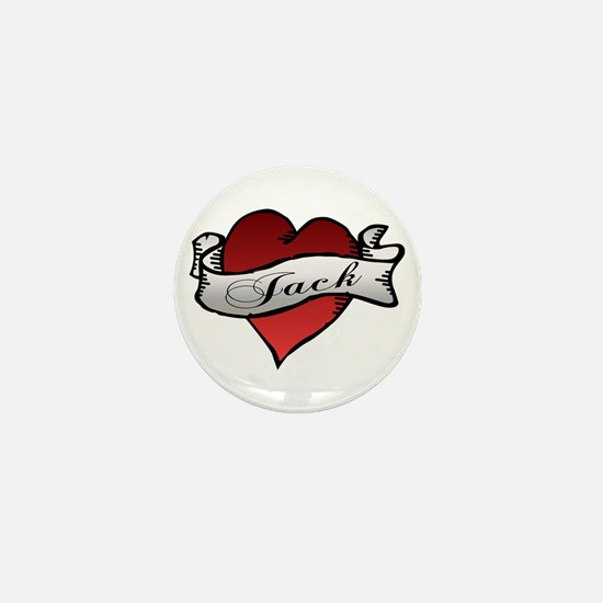 Jack Tattoo Heart Mini Button