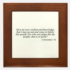 2 Chronicles 1:10 Framed Tile