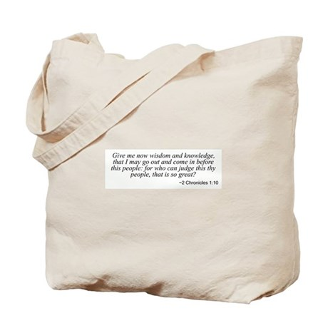 2 Chronicles 1:10 Tote Bag