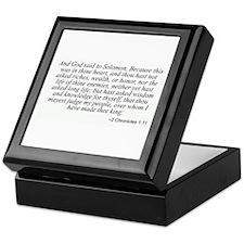 2 Chronicles 1:11 Keepsake Box