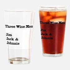 Three Wise Men Drinking Glass