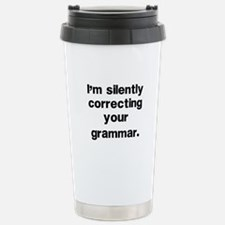 Funny Grammar Travel Mug